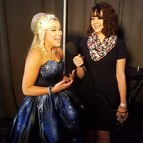 Bianca Ciotti interviewing Ashley Eckstein