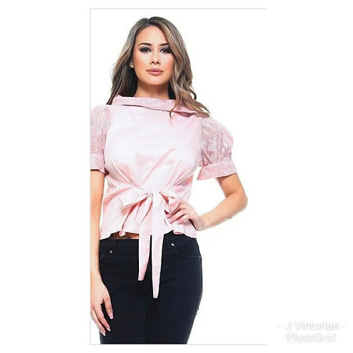 Pink Bow Tie Top