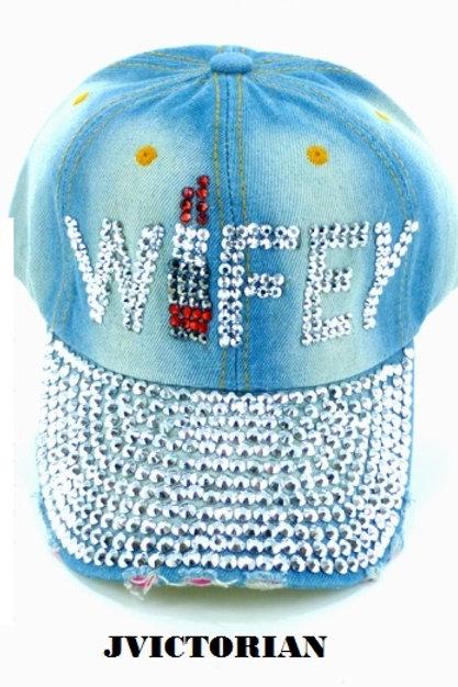Wifey Rhinestone Hat