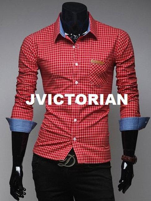 Two-Toned Collar Men's Shirt