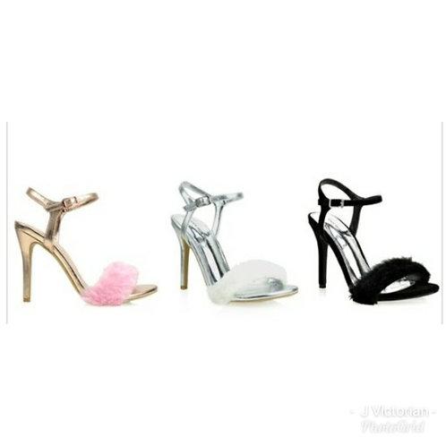 Fur Tip Heels