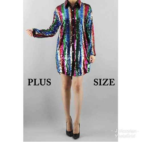Sequin Plus Sarah Dress