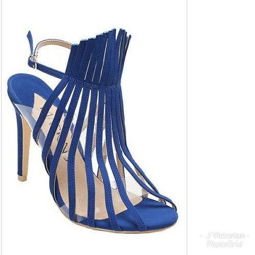 Blue Strapy Heels