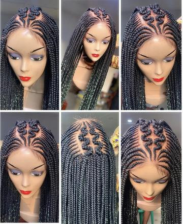 Criss Cross Braided Lace Wig
