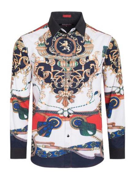 Multi-Print Button Shirt #50