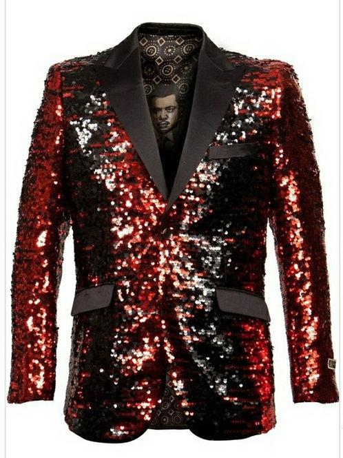 Red Sequin Men's Blazer