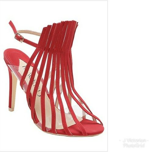 Red Strapy Heels