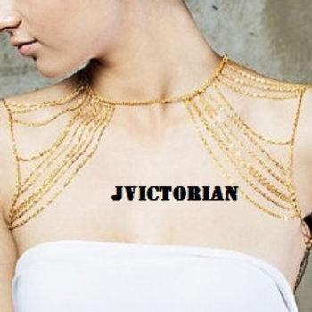 Hyperbolic Tassel Link Body Chain For Women