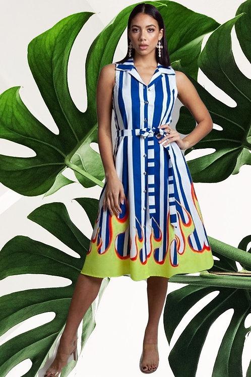 Fire Print Dress