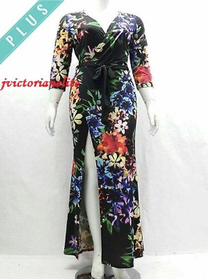 Multi-Colored Plus Dres