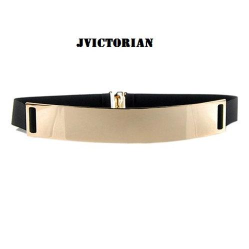 Chic Metal Buckle Elastic Waist Belt For Women
