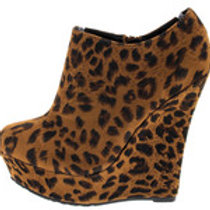 Brown Leopard Wedges