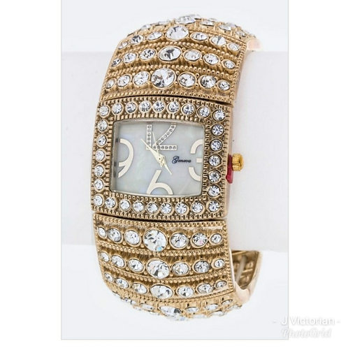 Gold Studded Watch