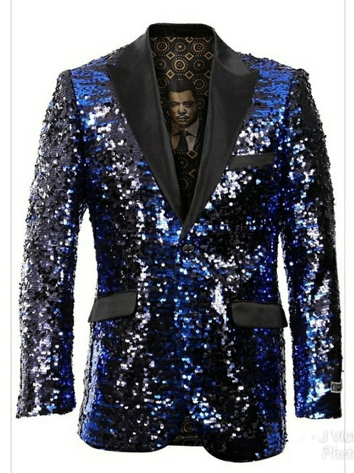 Royal Blue Sequin Men's Blazer