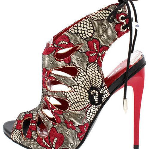 Floral Strap Heels