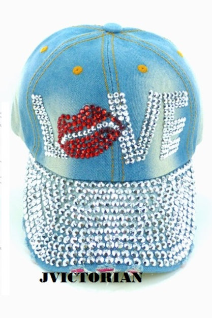 Love Rhinestone Hat
