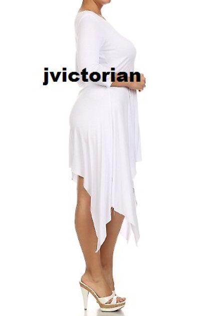 Jagged Edge Plus Dress