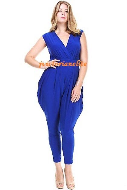 Royal Blue Plus Jumpsuit