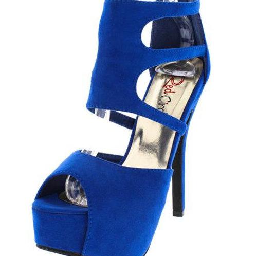 Blue  Cutout Heels