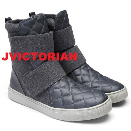 Grey Men's Ankle Strapped Boots