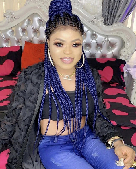 Blue Braided Back Lace Wig