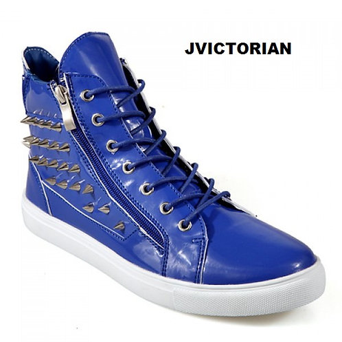 Fashionable Zipper and Rivets Design Casual Shoes