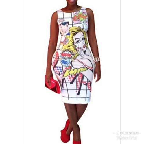 Printed Dress for the Curvy Woman