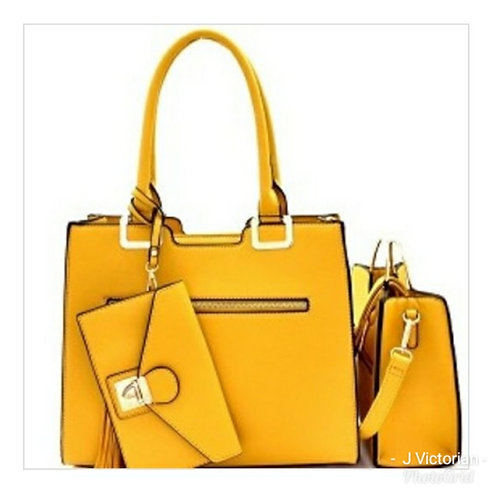 Gold Three-Piece Handbag Set