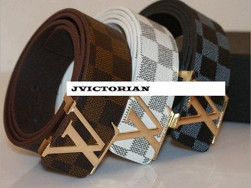 Men's brand letter trousers belts