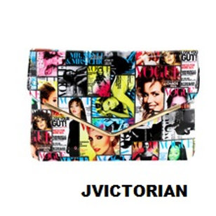 Fashion Magazine cover Art PU leather handbag cros