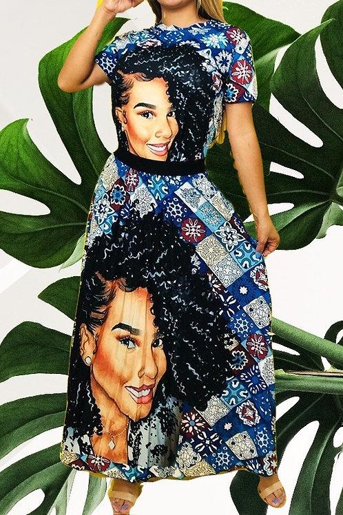 Selena's Graphic Dress