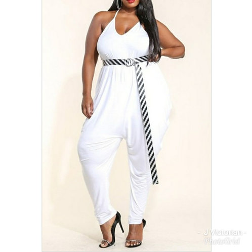 White Plus Jumpsuit Monica