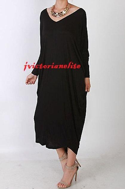 Oversized Drape Dress