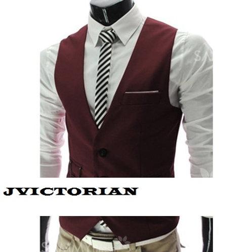 Sophisticated V-Neck Solid Color Slimming Polyeste