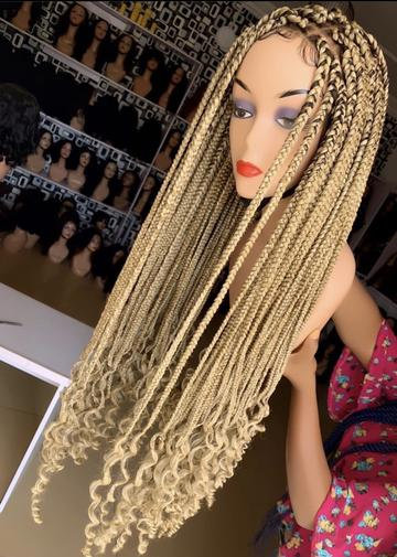 Blonde Braided Lace Wig