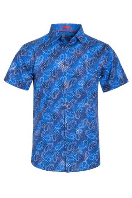 Blue Fashion Men's Button Down