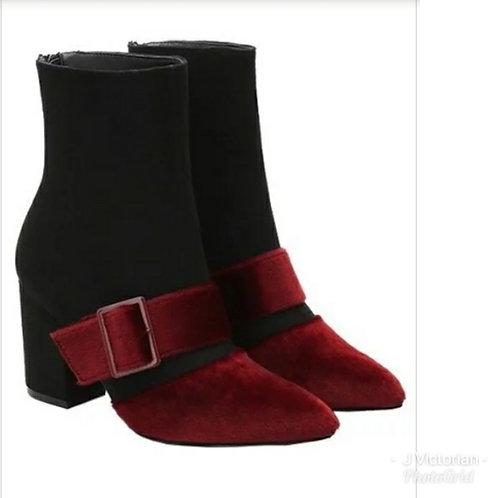 Black & Burgundy Boots