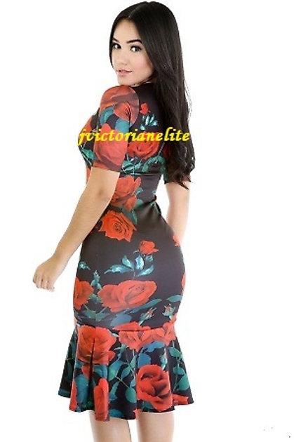 Floral Plus Dress