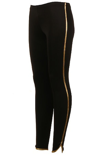 Black and Gold Tights