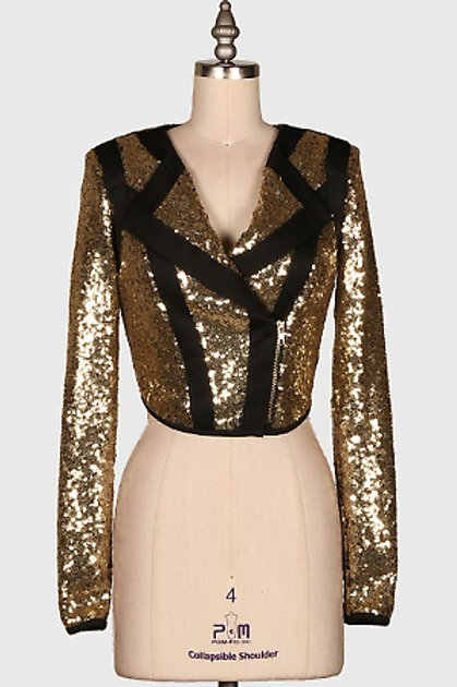 Black and Gold Blazer