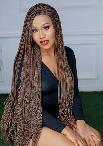 Long Braided Lace Hair Box