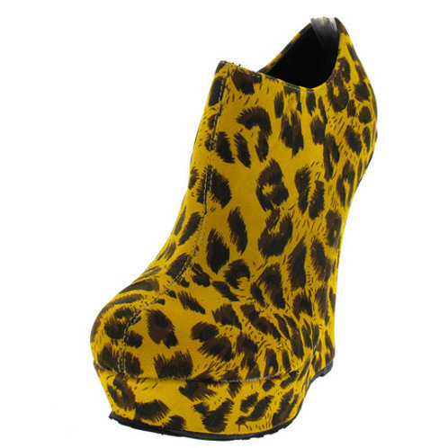 Mustard Leopard Wedges
