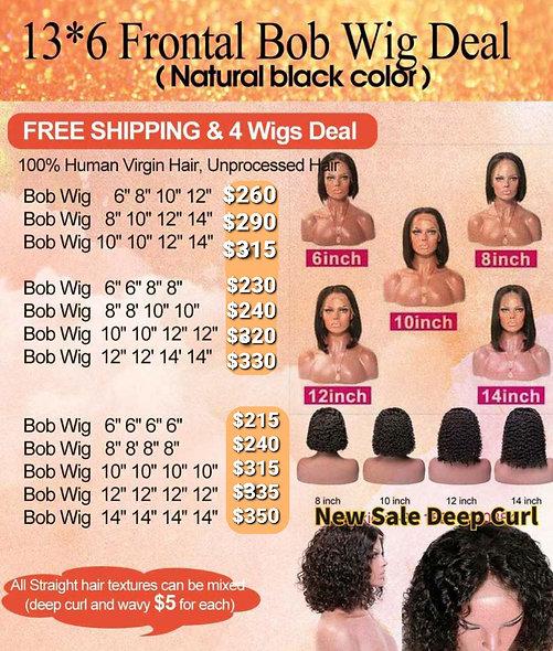 13*6 Frontal 4 Bundle Wigs Deal