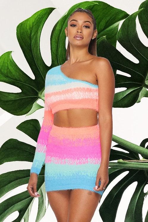 Rainbow Bright Two Piece Dress