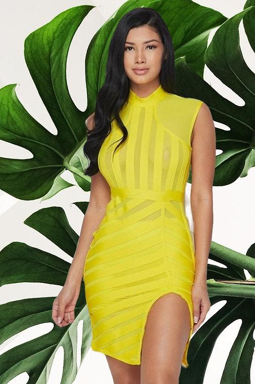 Yellow Bodycon Dress