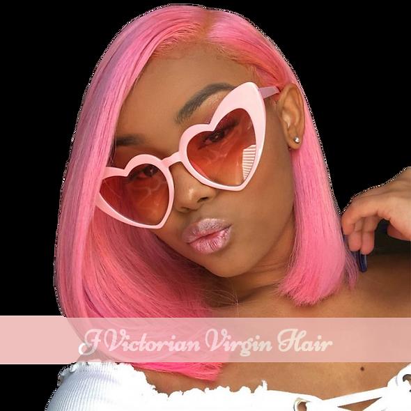 Celebrity Pink Bob Wig
