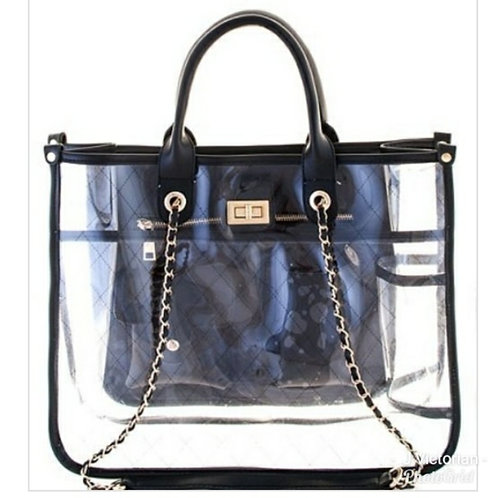 Black Clear Handbag