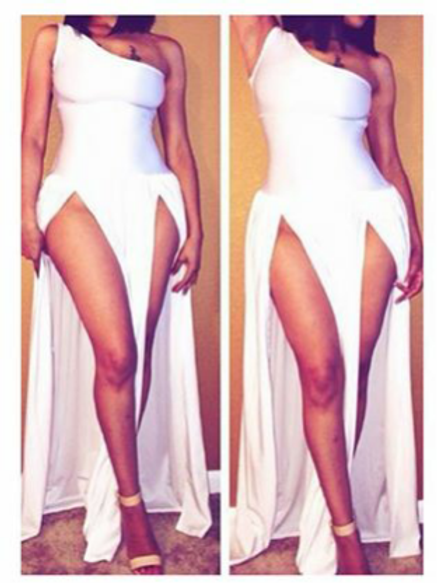 White Split Dress