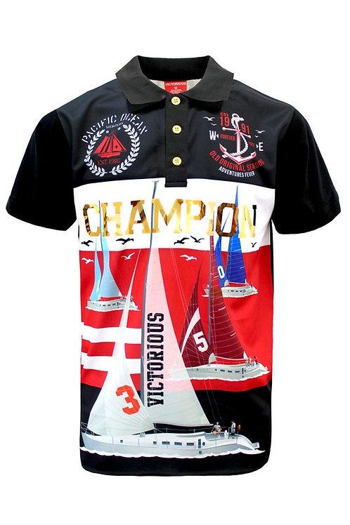 Champion Sailing Button Down Sleeve Shirt