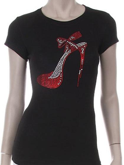 Red Heels Rhinestone T-Shirt